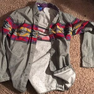 Button down speckle shirt